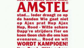 Amstel inhaker Ajax-Twente