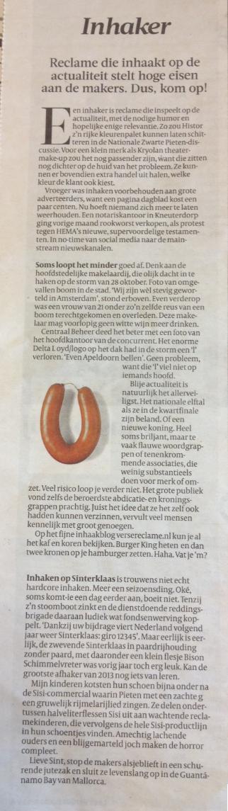 Column Volkskrant Scato van Opstall