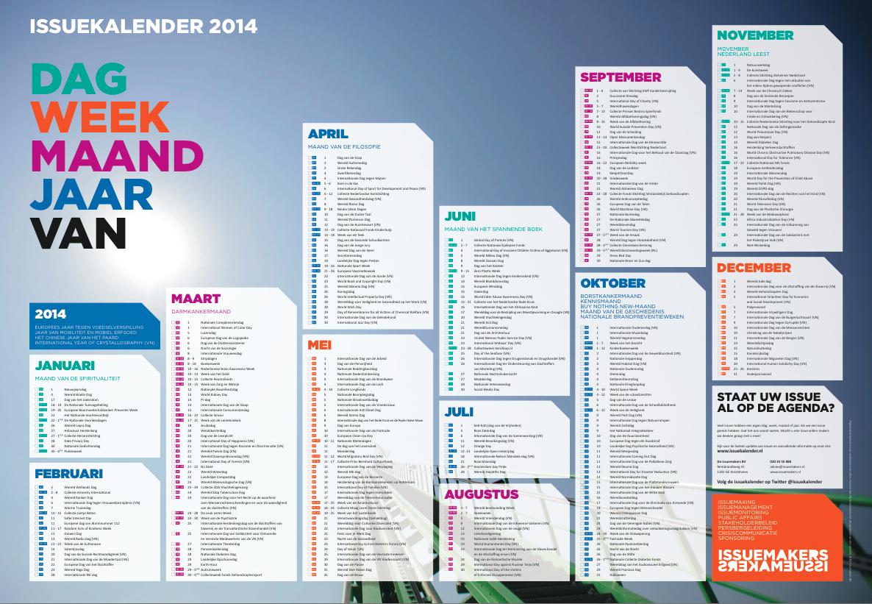 Issuekalender de Issuemakers