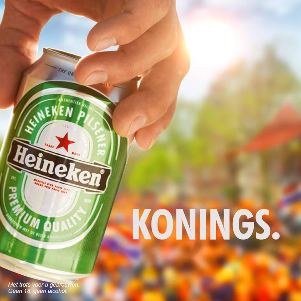 Heineken inhaker Koningsdag
