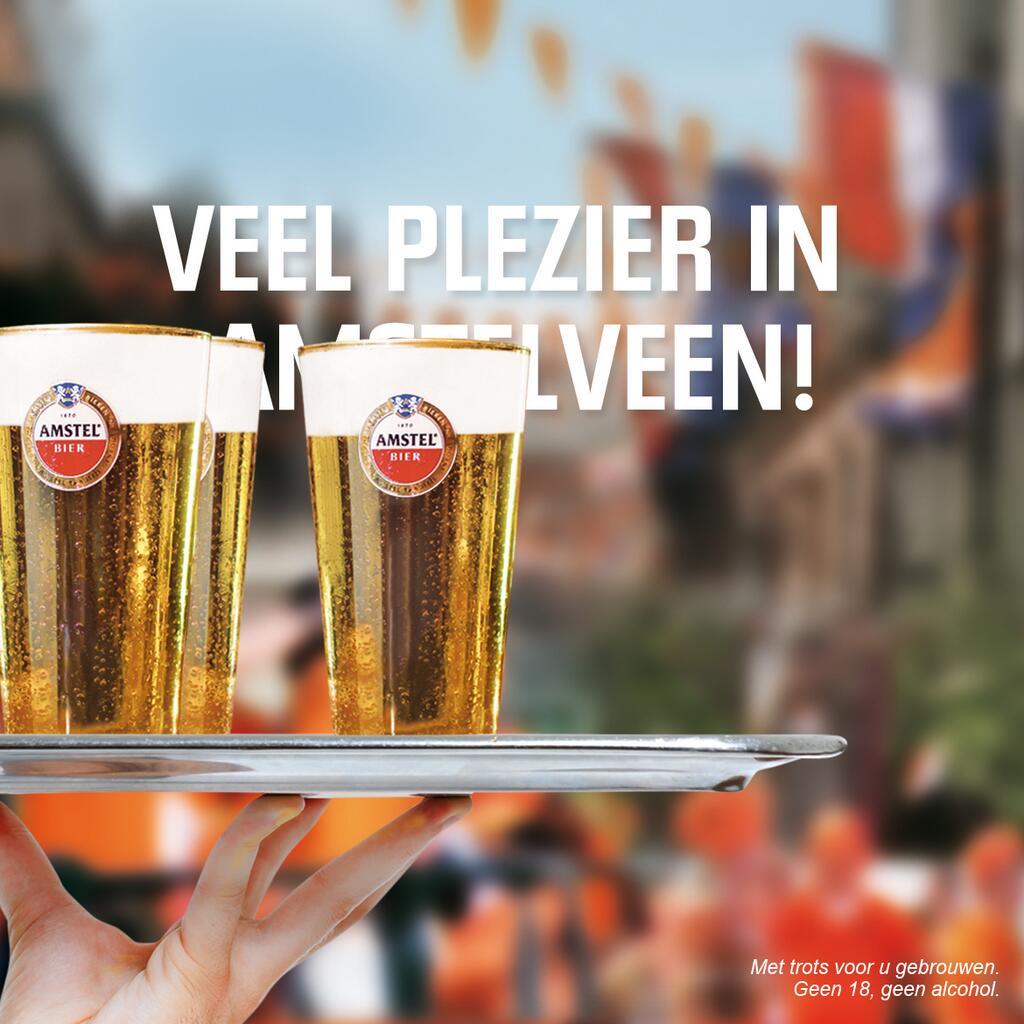Amstel inhaker Koningsdag
