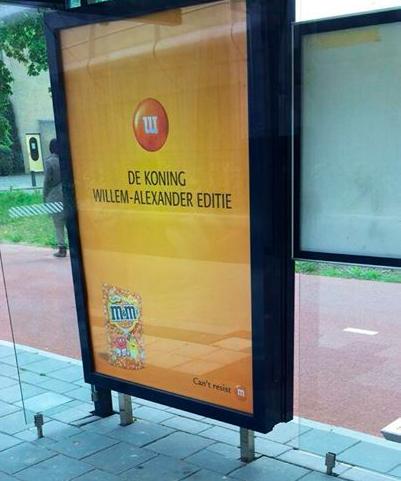 Willem Alexander M&M's Koningsdag